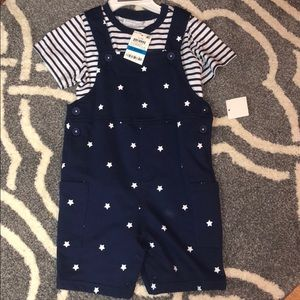 NWT overalls with short sleeve shirt